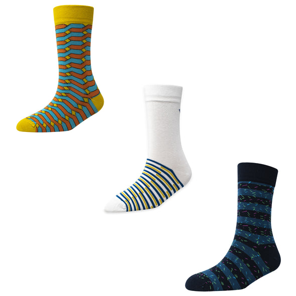 Men's FL017 Pack of 3 Crew Socks