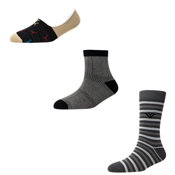 Men's MX05 Pack of 3 Assorted Socks