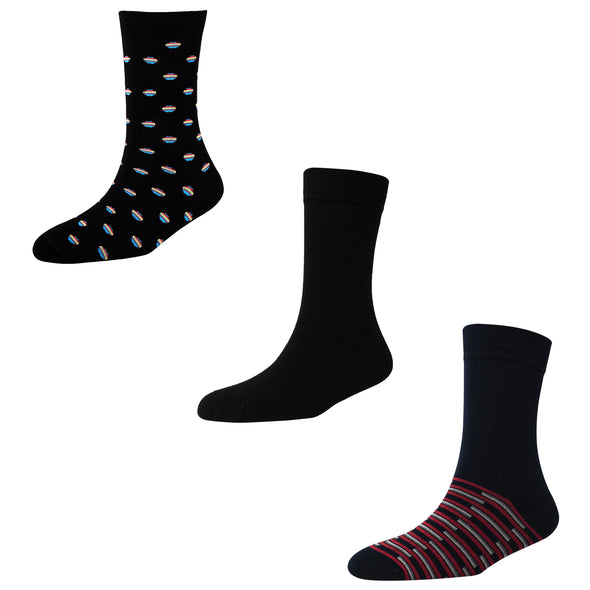 Men's FL015 Pack of 3 Crew Socks