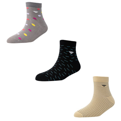 Men's AL016 Pack of 3 Ankle Socks