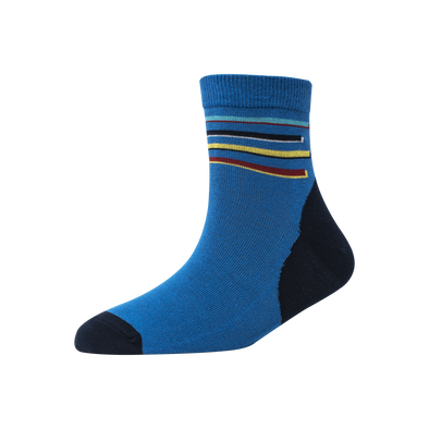Men's YW-M1-246 Four Stripe Ankle Socks
