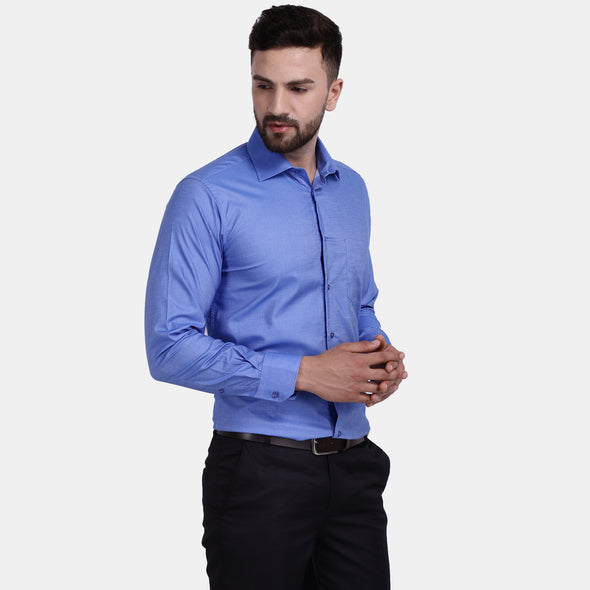 Men's PIMA Mercerised Solid Slim Fit Dress Shirt