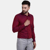 Men's PIMA Mercerised Bitone Textured Slim Fit Shirt