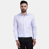 Men's PIMA Mercerised Textured Jacquard Design Regular Fit Shirt