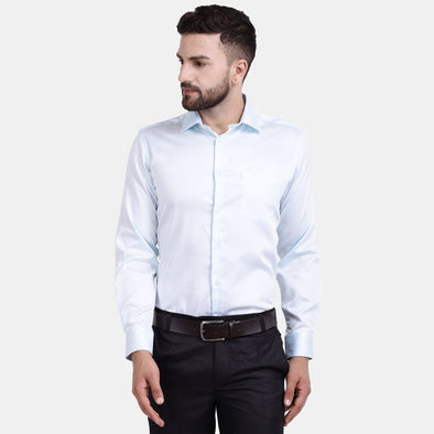 Men's PIMA Mercerised Solid Regular Fit Dress Shirt