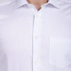 Men's PIMA Mercerised Striper Design Regular Fit Dress Shirt