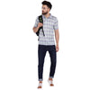 Men's Double Mercerised PIMA Cotton Half Sleeves Bitone Check Polo Shirt
