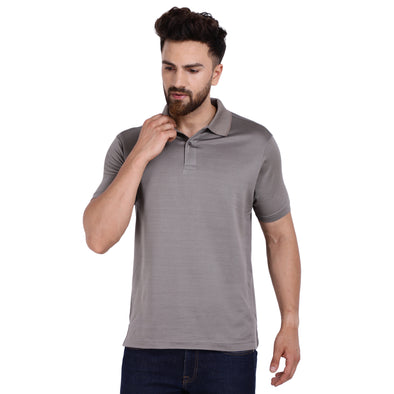 Men's Double Mercercerised Egyptian Cotton Half Sleeves Bitone Polo Shirt