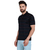 Men's Double Mercerised Egyptian Cotton Half Sleeves Thin Stripe Polo Shirt
