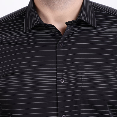 Men's PIMA Mercerised All Over Stripe Dress Shirt