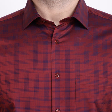 Men's PIMA Mercerised Checks Design Dress Shirt