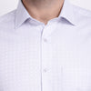 Men's PIMA Mercerised Abstract Pattern with Satin Textured Jacquard Design Shirt