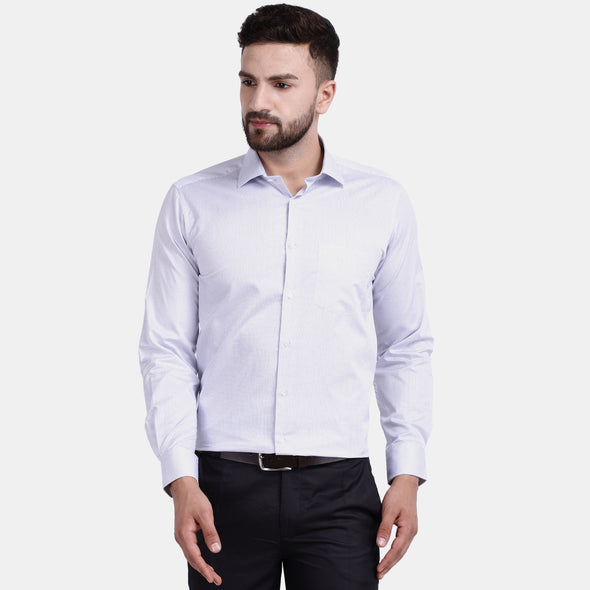 Men's PIMA Mercerised Pin Check Jacquard Design Dress Shirt