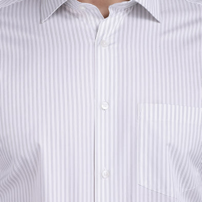 Men's PIMA Mercerised Verticle Pin Stripe Design Dress Shirt