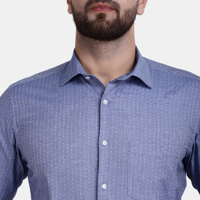 Men's PIMA Mercerised Tiny Check Dot Design Dress Shirt