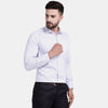 Men's PIMA Mercerised Pin Check Jacquard Design Regular Fit Dress Shirt