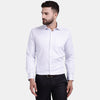 Men's PIMA Mercerised Pin Stripe Jacquard Design Regular Fit Dress Shirt