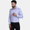 Men's PIMA Mercerised Verticle Stripe Design Regular Fit Dress Shirt