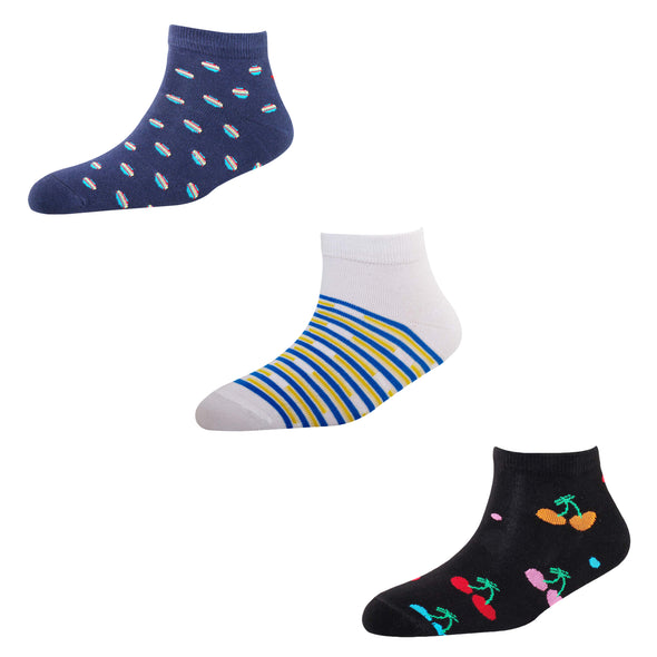 Men's AL04 Pack of 3 Cotton Fashion Ankle Socks
