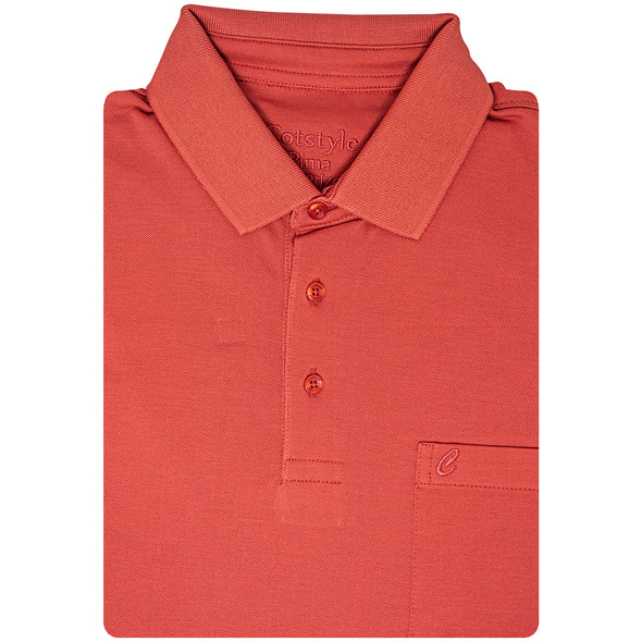 Men's Double Mercerised Ultra comfort PIMA Cotton Half Sleeves Solid Dyed Polo Shirt
