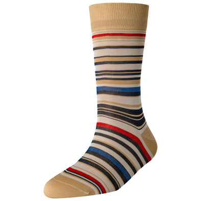 Men's Beige Multi Stripe Socks