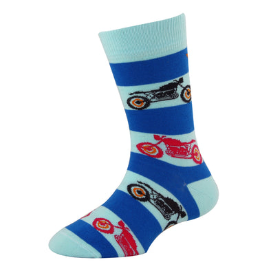 Men's YW-M1-314 Fashion Bike Crew Socks