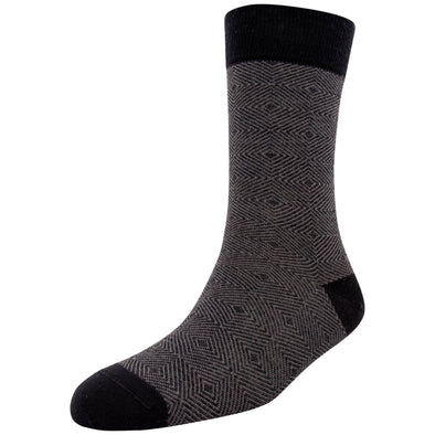 Men's Merino Wool Herringbone Stripe Fashion Socks