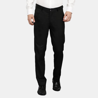 Men's Cotton Mercerised Solid Trousers