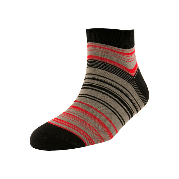 Men's Black Multi Stripe Ankle Socks