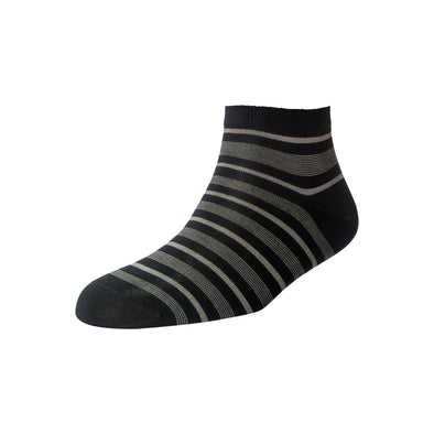 Men's Black Stripe Ankle Socks