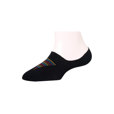 Men's Invisible Multicolor Pyramid Stripe Socks