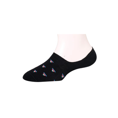 Men's Invisible Multicolor Triangle Socks