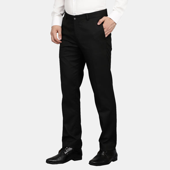 Men's Cotton Mercerised Solid Trousers - Made to Sample