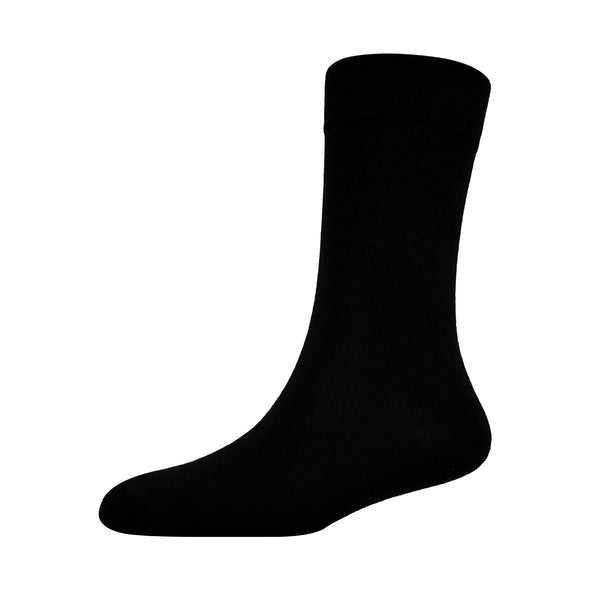 Pack of 6 Soft Cotton Black & White School Socks