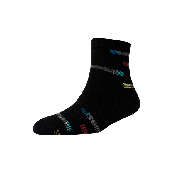 Men's YW-M1-243 Rectangular Stripe Ankle Socks