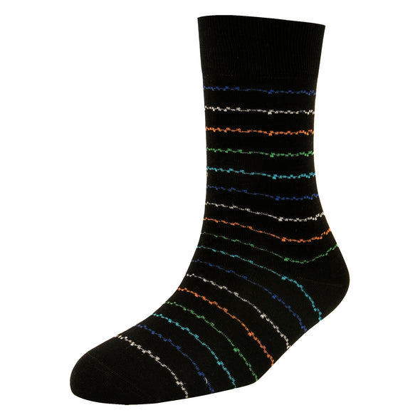 Men's High Fashion Zig Zag Socks