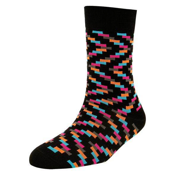 Men's High Fashion Coloured Rectangle Blocks Socks