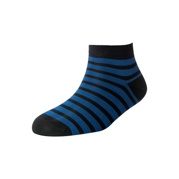 Men's Blue Stripe Ankle Socks