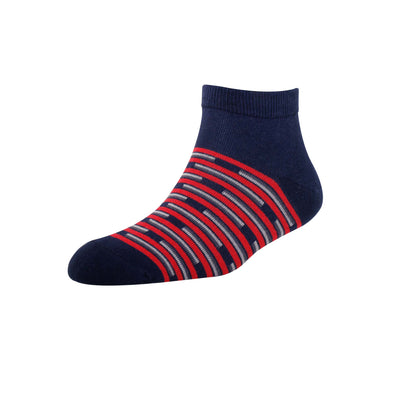 Men's YW-M1-238 Fashion Brick Stripe Ankle Socks