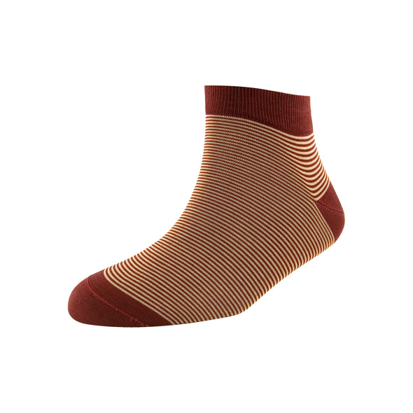 Men's Pin Stripe Ankle Socks