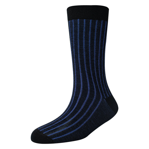 Men's Super Fine 8x1 Shadow Rib socks