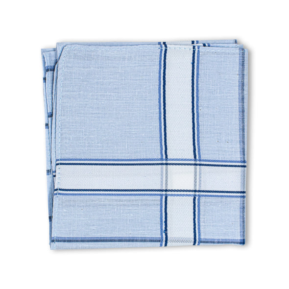 Men's Imerial Premium Cotton 6 Piece Handkerchief Set - Pastel Stripe