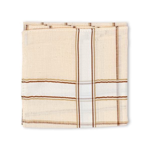 Men's Imerial Premium Cotton Handkerchief - Pastel Stripe