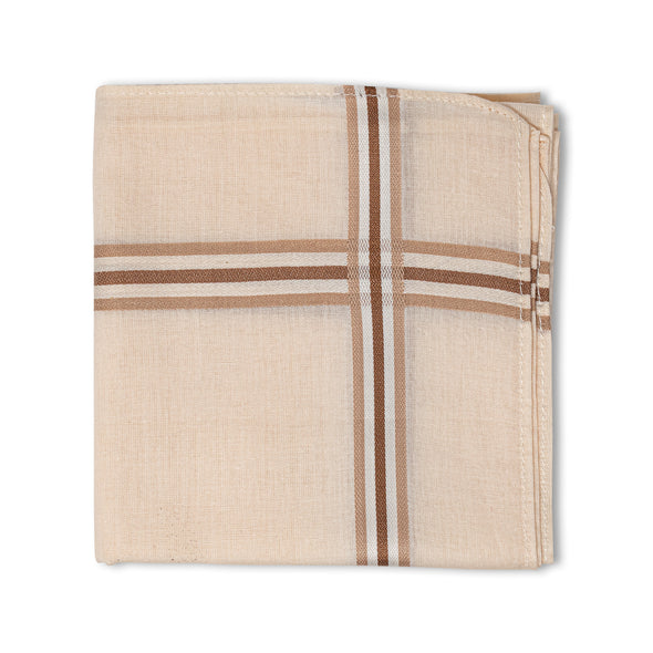 Men's Pristine Mercerised Cotton Handkerchief - Pastel Stripe