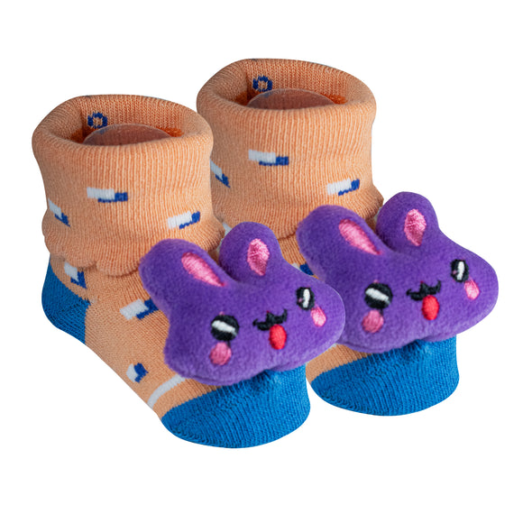 Pack of 3-Stuffed Baby Socks-Combo-1