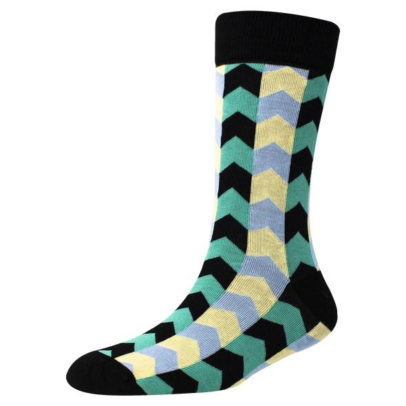 Men's YW-M1-312 Fashion Arrow Crew Socks