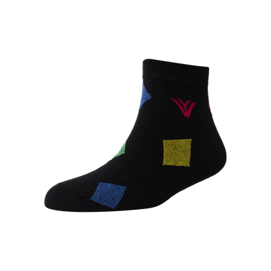 Men's YW-M1-240 Fashion Stripe Multi Blocks Ankle Socks