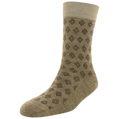 Men's Merino Wool Diamond Fashion Socks