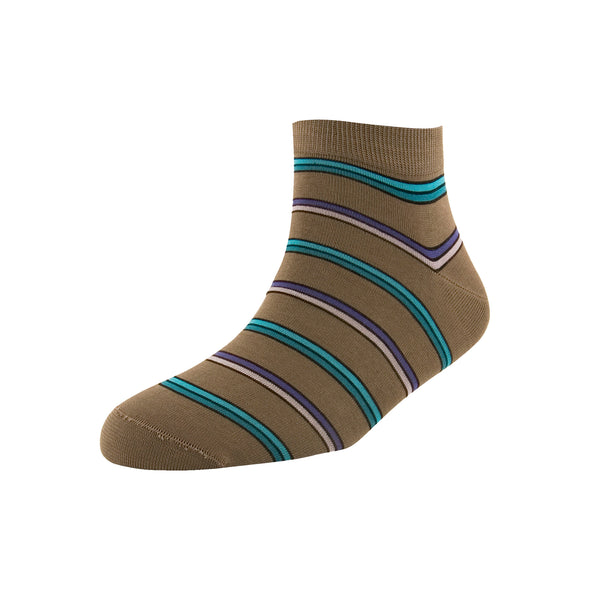 Men's Dark Grey Multi Stripe Ankle Socks