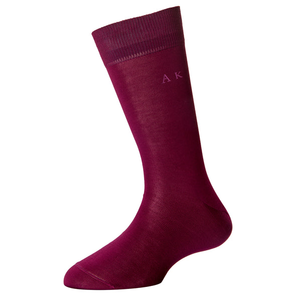 Women's Fine Monogram Socks